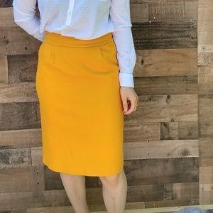 Banana republic mustard skirt